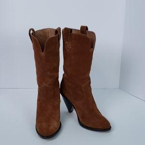 Kors Michael Kors Suede Boots Sz 7-1/2 M Brown